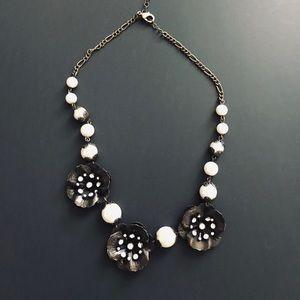 Park Lane pearl/bronze necklace